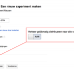 Start je eerste A/B-test met Google Analytics/Tag Manager