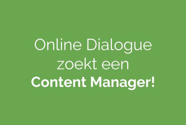 vacature content manager